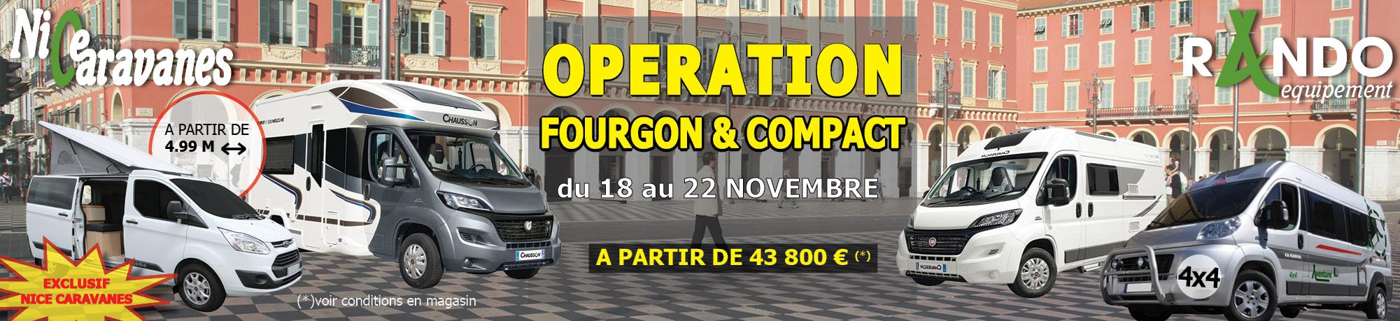 Opération fourgon & compact
